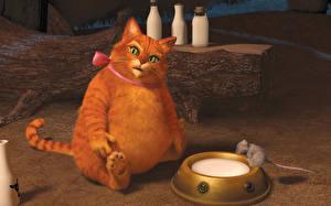 Bilder Shrek – Der tollkühne Held Katze Dick Fuchsrot Zeichentrickfilm