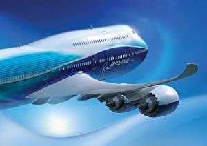 Bilder Flugzeuge Verkehrsflugzeug Boeing 747 Luftfahrt