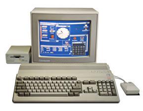 Photo Keyboard Monitor Amiga 500