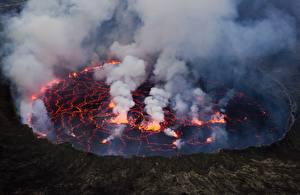 Hintergrundbilder Naturkraft Lava Lake Nyiragongo