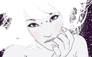 Fotos Vektorgrafik Mädchens