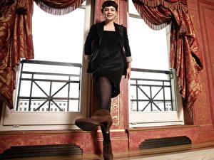 Bilder Carey Mulligan Strumpfhose Kleid High Heels