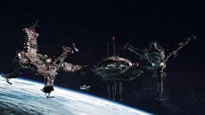 Picture Technics Fantasy Ship Orbital stations Fantasy Space