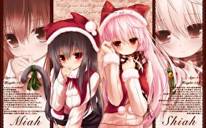 Tapety na pulpit Catgirl Bożego narodzenia Dziewczyny