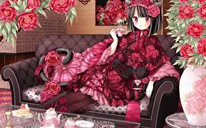 Hintergrundbilder Neko Girls Mädchens