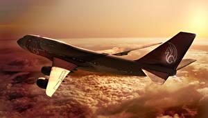 Bilder Flugzeuge Verkehrsflugzeug Boeing Boeing-747 Luftfahrt