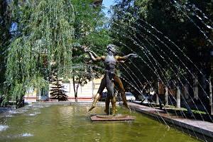 Bilder Skulpturen Springbrunnen Wolgograd