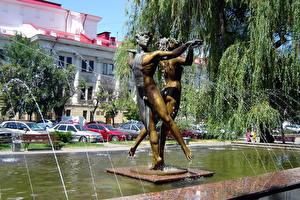 Hintergrundbilder Skulpturen Springbrunnen Wolgograd