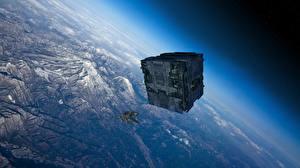 Photo Technics Fantasy Ships Surface of planets Fantasy Space