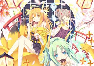 Hintergrundbilder Kitsune Mädchens