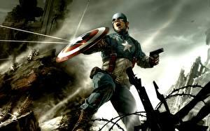 Bilder Comic-Helden Captain America Held Fantasy