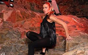 Hintergrundbilder Veronika Fasterova Kleid Strumpfhose