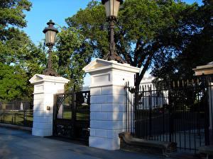 Fotos Vereinigte Staaten Washington, D.C. Pforte White House Front Gate Städte