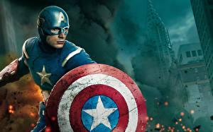 Bilder Marvel's The Avengers 2011 Captain America Held Chris Evans Schild (Schutzwaffe) Film