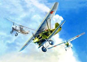 Hintergrundbilder Flugzeuge Gezeichnet Antik