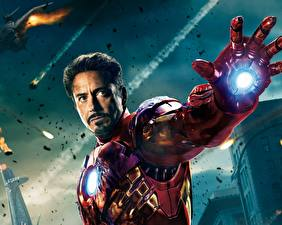 Hintergrundbilder Marvel's The Avengers 2011 Robert Downey Jr Iron Man Held