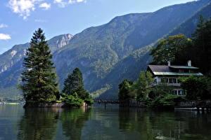 Hintergrundbilder See Österreich Hallstatt Natur