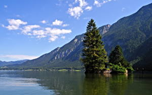Hintergrundbilder See Österreich Himmel Hallstatt Natur
