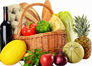 Wallpapers Vegetables Wicker basket Food