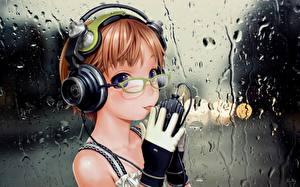 Fondos de Pantalla Range Murata Auriculares  Anime Chicas