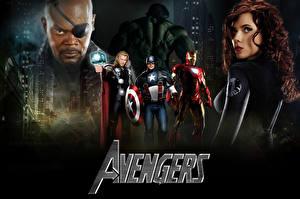 Hintergrundbilder Marvel's The Avengers 2011 Scarlett Johansson