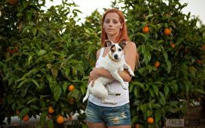 Bilder Piper Fawn Unterhemd Shorts Rotschopf Mädchens