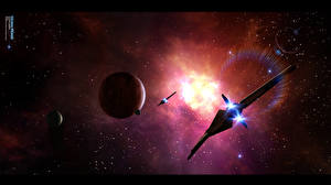 Desktop wallpapers Ships Planet Fantasy Space