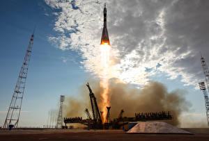 Hintergrundbilder Schiffe Rakete Start  Kosmos