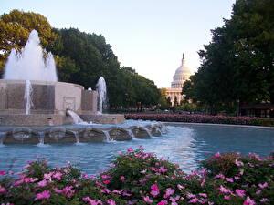 Hintergrundbilder Springbrunnen USA Washington, D.C.