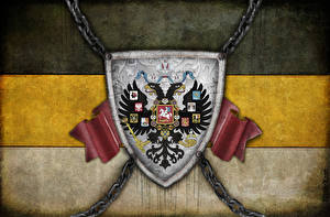 Hintergrundbilder Russland Герб Nationalisten Doppeladler Flagge