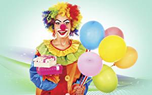 Fotos Feiertage Clown Luftballon