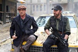 Papel de Parede Desktop Os Mercenários Chuck Norris Sylvester Stallone Filme