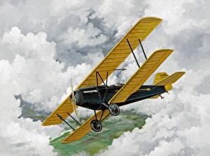 Fotos Flugzeuge Gezeichnet Antik Fleet Luftfahrt