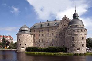 Hintergrundbilder Burg Schweden  Städte
