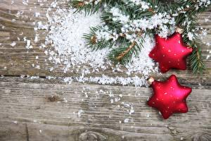 Bilder Feiertage Neujahr Ast Christbaum Schnee