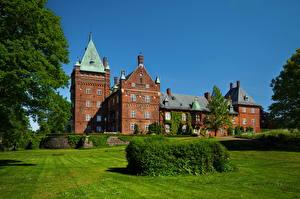 Hintergrundbilder Burg Schweden Himmel Trolleholm Städte