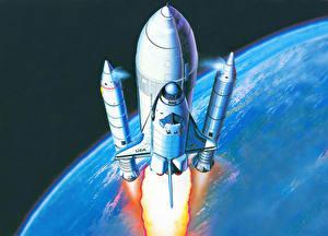 Hintergrundbilder Schiffe Rakete Spase Shuttle Weltraum