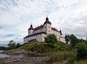Hintergrundbilder Burg Schweden Himmel Lacko  Städte