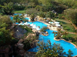 Hintergrundbilder Kurort Afrika Südafrika Schwimmbecken Sun City Städte