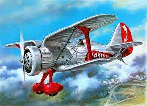 Hintergrundbilder Flugzeuge Gezeichnet Retro