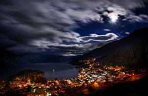 Images New Zealand Sky Clouds Night Queenstown Cities
