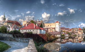 Pictures Czech Republic Sky HDR Clouds  Cities