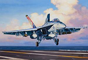 Hintergrundbilder Flugzeuge Gezeichnet Boeing Boeing F/A-18E Super Hornet