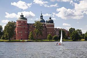 Hintergrundbilder Burg Schweden Himmel Wolke Gripsholms Städte