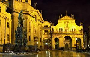 Hintergrundbilder Tschechische Republik Denkmal Prag Nacht