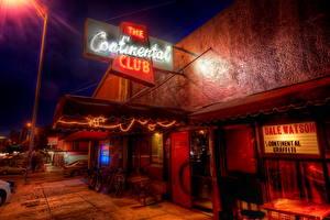 Fotos Vereinigte Staaten Austin TX Texas Lichtstrahl HDR Nacht