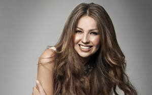 Pictures Thalia Face Staring Smile Brunette girl Hair Teeth Brown haired Music Celebrities Girls