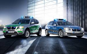 Wallpaper BMW Police automobile