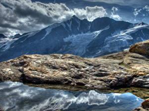 Fotos Gebirge Steine Himmel Österreich Wolke HDR Alpen Natur
