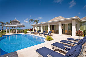 Pictures Houses Sky Resorts Swimming bath Sunlounger Cities